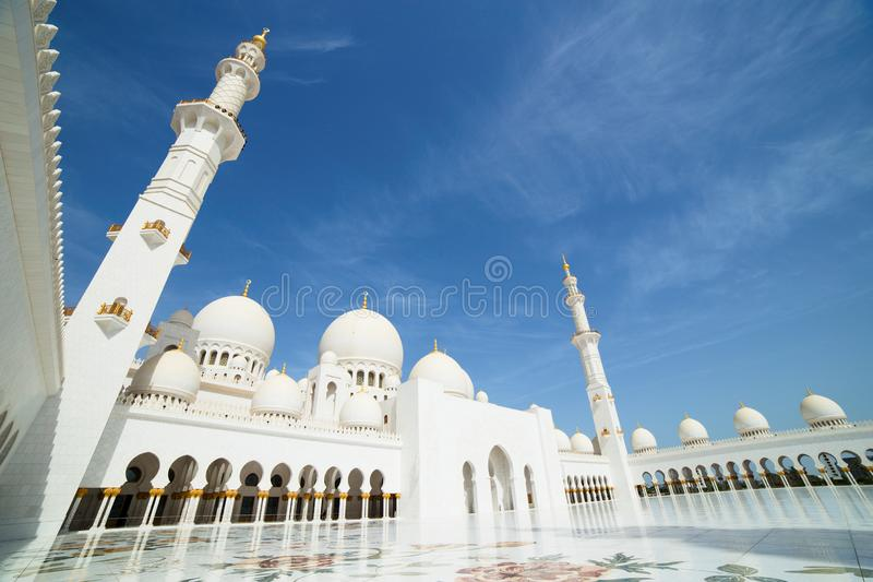 Sheikh Zayed Grand Mosque in Abu Dhabi. UAE royalty free stock images