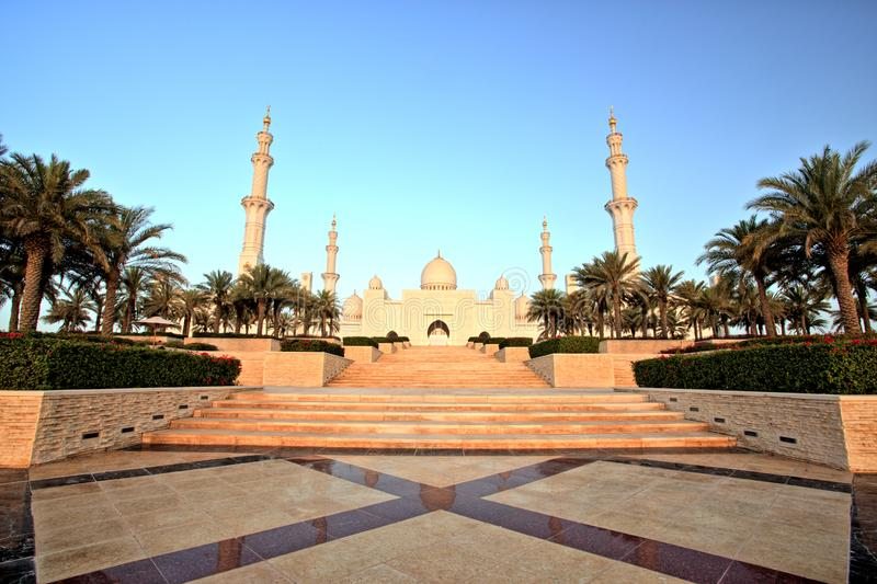 Sheikh Zayed Grand Mosque in Abu Dhabi. UAE stock images