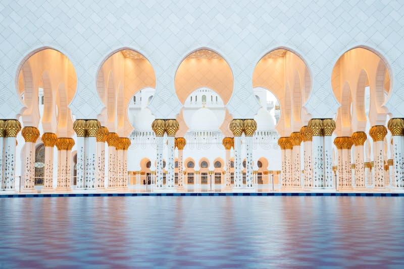 Sheikh Zayed Grand Mosque in Abu Dhabi. UAE stock photo