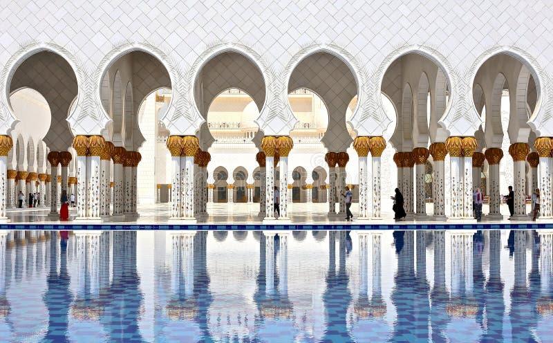 Sheikh Zayed Grand Mosque. In Abu Dhabi, United Arab Emirates royalty free stock photography
