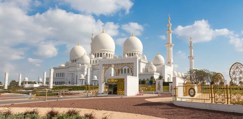 Sheikh Zayed Grand Mosque, Abu Dhabi, United Arab Emirates. stock photo