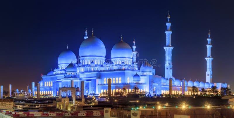 Sheikh Zayed Grand Mosque. At dusk, Abu-Dhabi, UAE royalty free stock photography