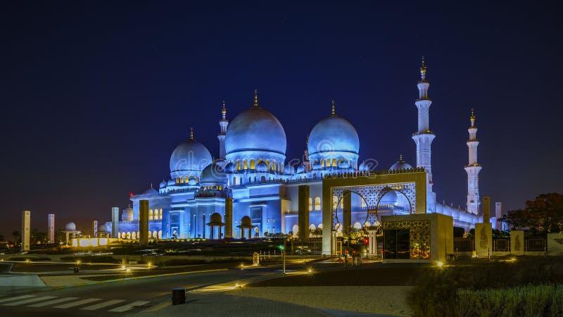 Sheikh Zayed Grand Mosque en Abu Dhabi 7 images libres de droits