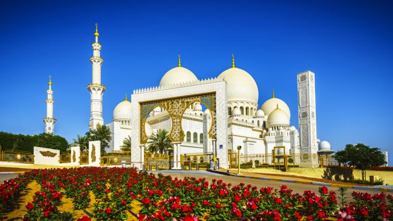 Sheikh Zayed Grand Mosque en Abu Dhabi 12 imágenes de archivo libres de regalías