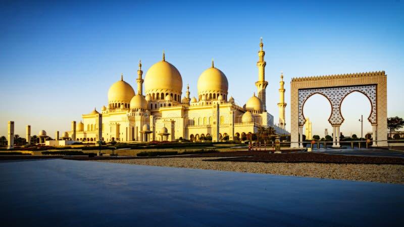 Sheikh Zayed Grand Mosque en Abu Dhabi 15 photo libre de droits