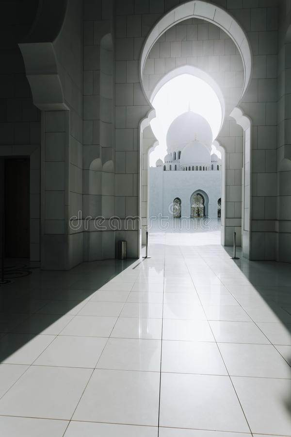 Sheikh Zayed Grand Mosque en Abu Dhabi fotos de archivo