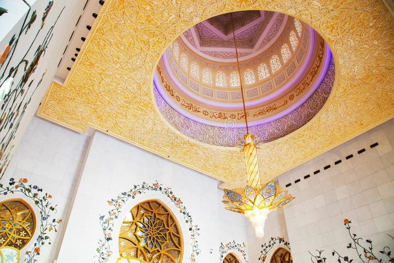 Sheikh Zayed Grand Mosque en Abu Dhabi fotografía de archivo libre de regalías