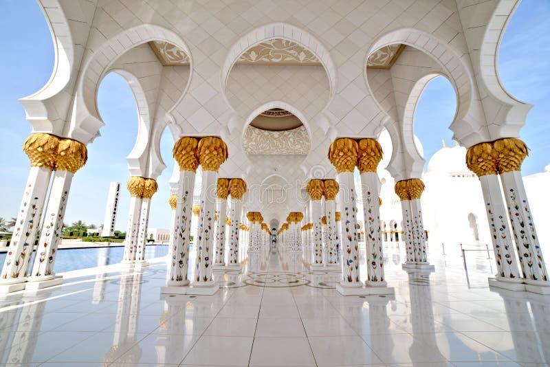 Sheikh Zayed Grand Mosque Interior Abu Dhabi. Sheikh Zayed Grand Mosque in Abu Dhabi Interior stock images
