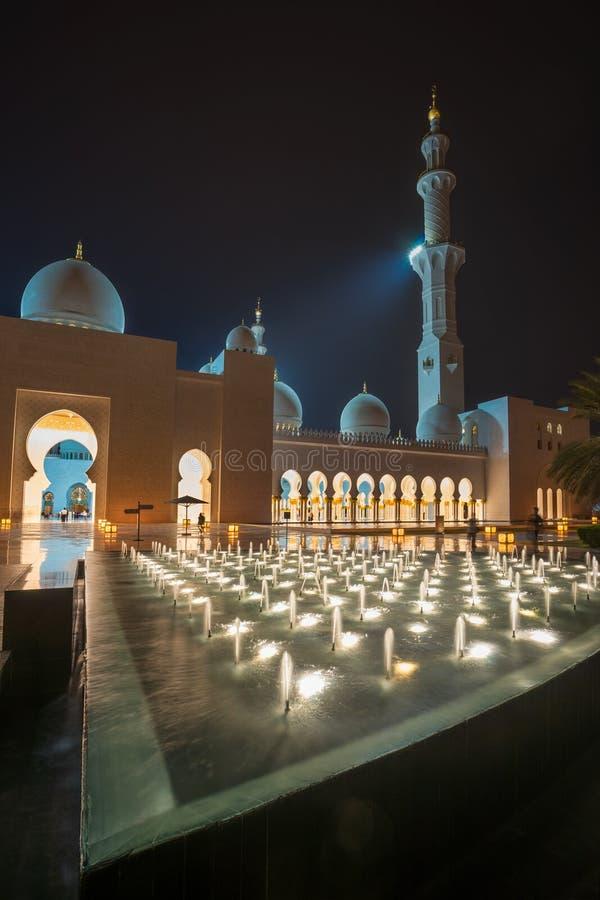 Sheikh Zayed Grande Mesquita em Abu Dhabi fotos de stock royalty free