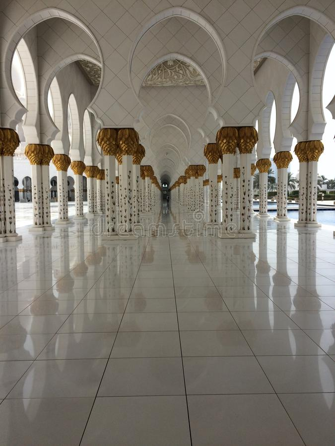 Sheikh Zayed Grande Mosque immagine stock