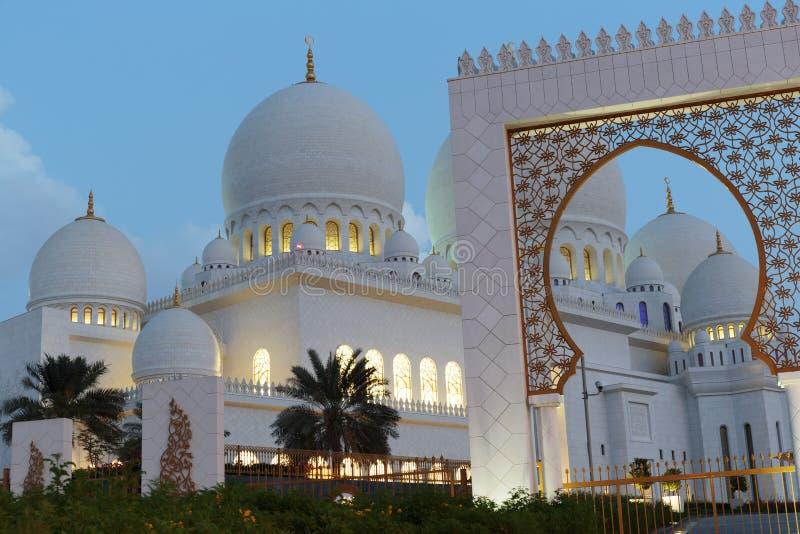 Sheikh Zayed meczet, Abu Dhabi, UAE zdjęcia stock