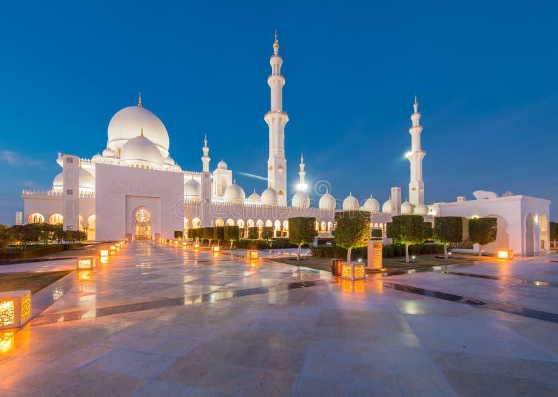 Sheikh Zayed meczet w Abu Dabi obraz royalty free