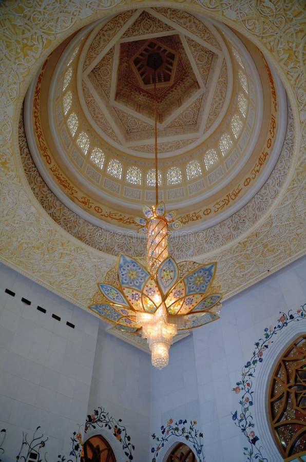 Sheikh Zayed meczet w Abu Dhabi zdjęcia stock