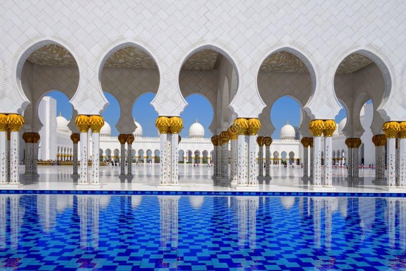 Sheikh Zayed meczet w Abu Dhabi, UAE obraz royalty free
