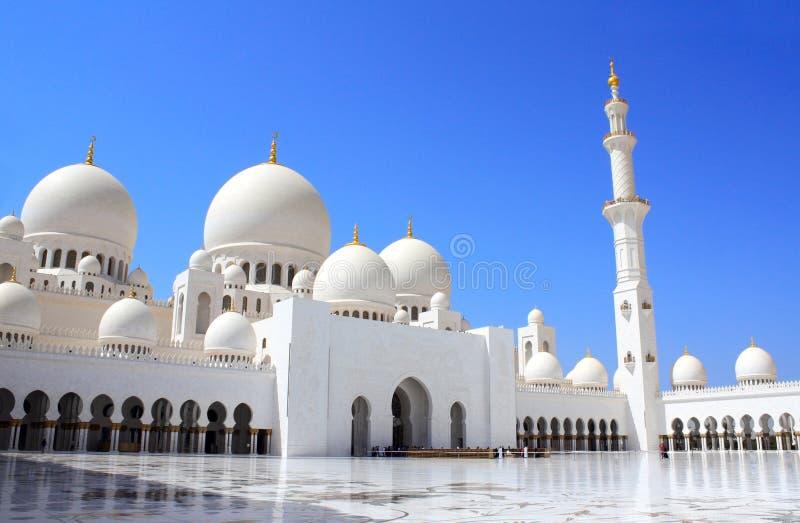 Sheikh Zayed meczet w Abu Dhabi, UAE (Biały meczet) zdjęcie royalty free
