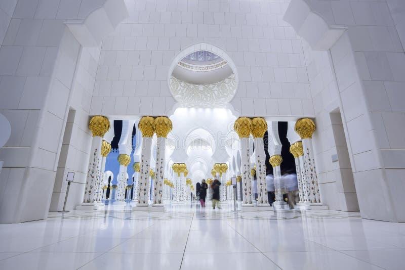 Sheikh Zayed-moskee in Abu Dhabi, Verenigde Arabische Emiraten, Midden-Oosten royalty-vrije stock foto's