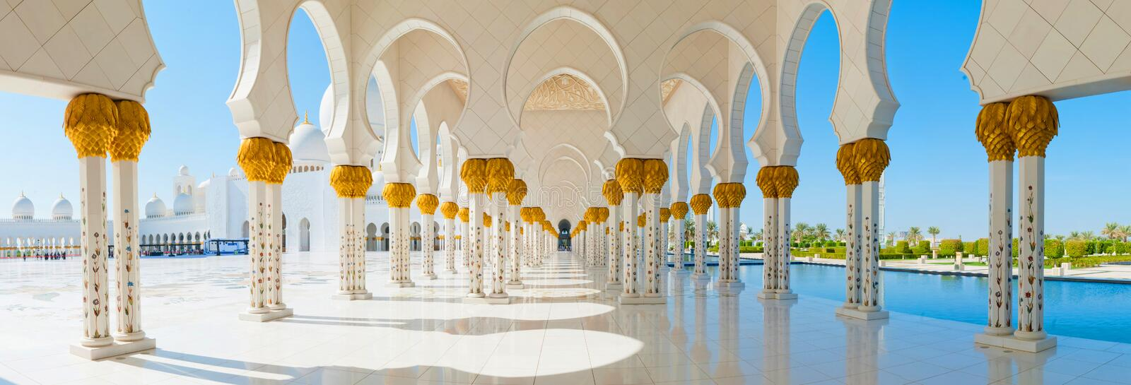 Sheikh Zayed Mosque fotografia stock