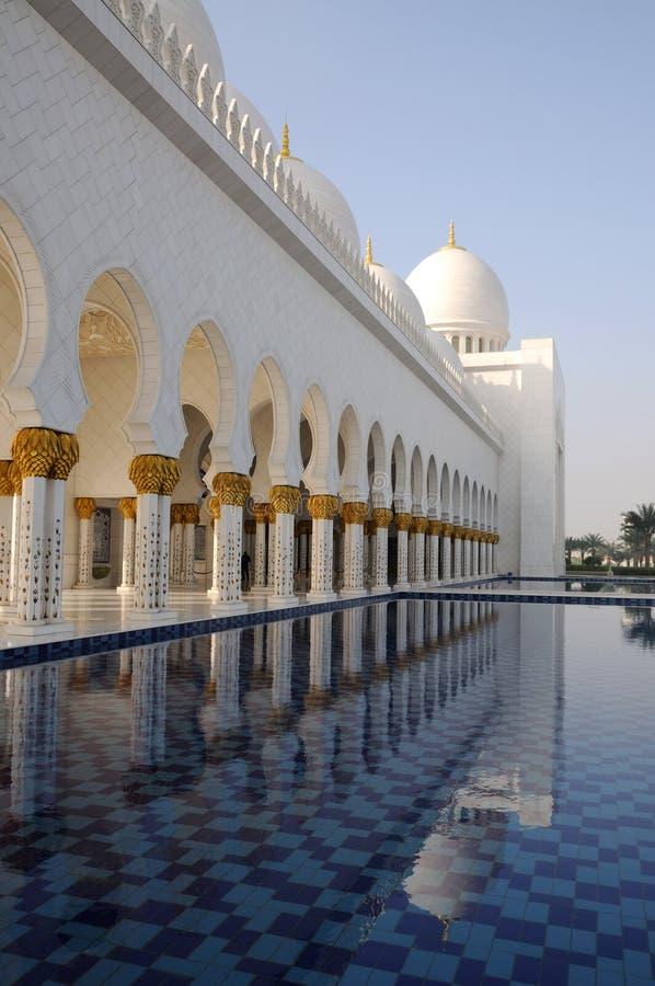 Sheikh Zayed Mosque, Abu Dhabi stock images