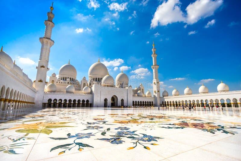 Sheikh Zayed Mosque, Abu Dhabi stock foto's