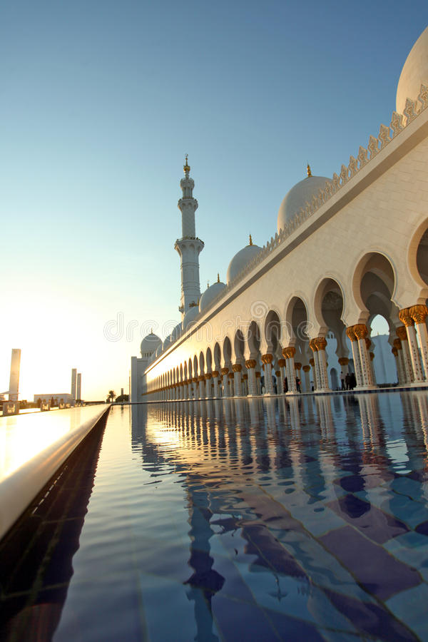 Sheikh Zayed Mosque, Abu Dhabi stock images