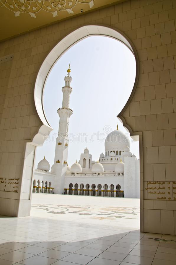 Exterior: Sheikh Zayed Mosque In Abu Dhabi City Stock Photo