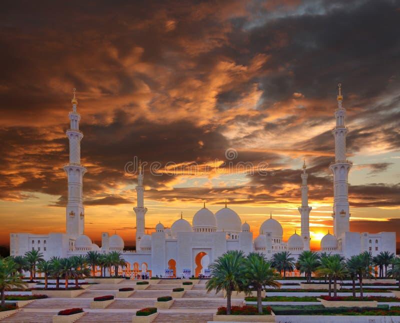 Sheikh Zayed Mosque in Abu Dhabi, de V royalty-vrije stock afbeeldingen