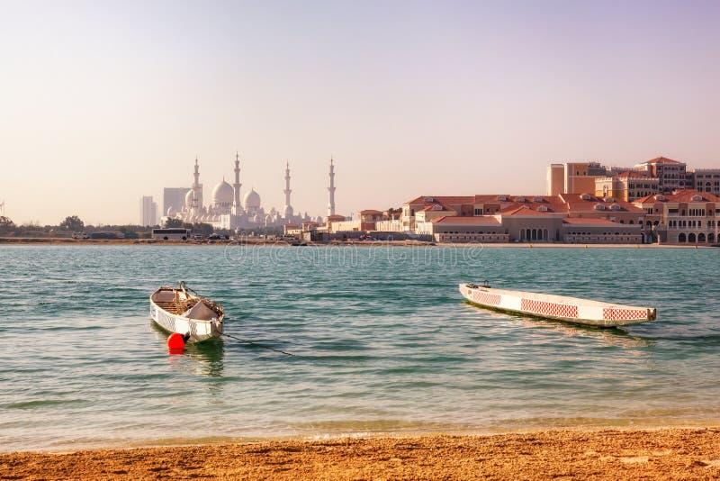 Sheikh Zayed Mosque Abu Dhabi, UAE immagine stock libera da diritti