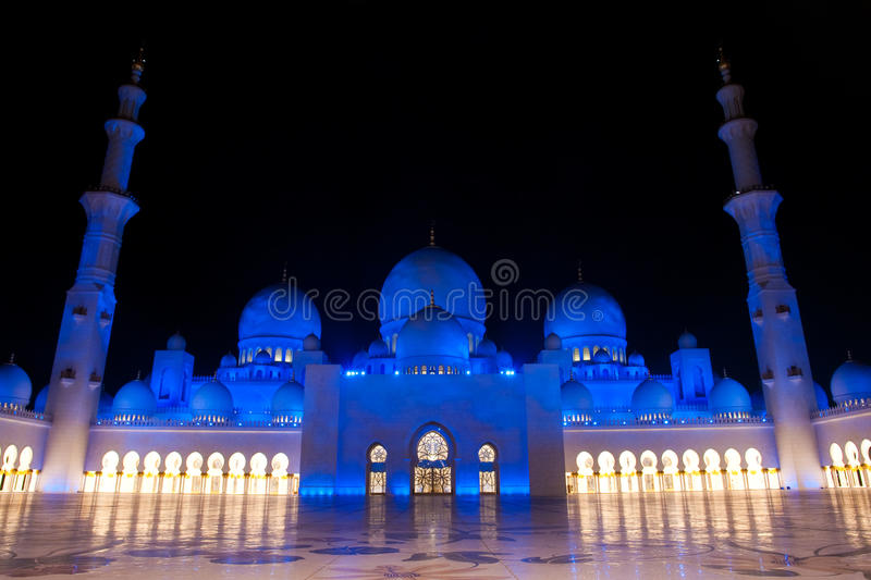 Sheikh zayed mosque in Abu Dhabi, UAE, Middle East royalty free stock images