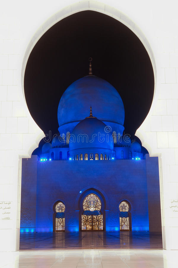 Sheikh zayed mosque in Abu Dhabi, UAE, Middle East royalty free stock photography