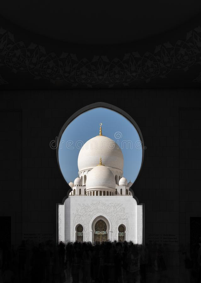 Sheikh Zayed Mosque - der Turm stockfotos