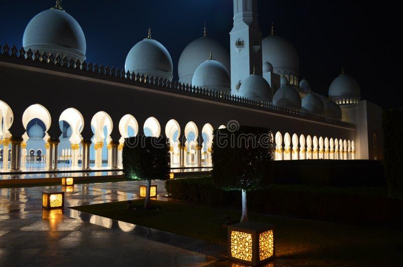 Sheikh Zayed Mosque Emirates de V.A.E royalty-vrije stock foto's