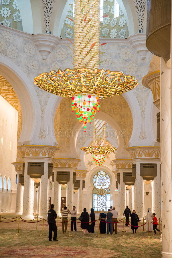Sheikh Zayed mosque. The famous Sheikh Zayed mosque is the largest mosque in UAE. March 4, 2014 Abu Dhabi, UAE stock images