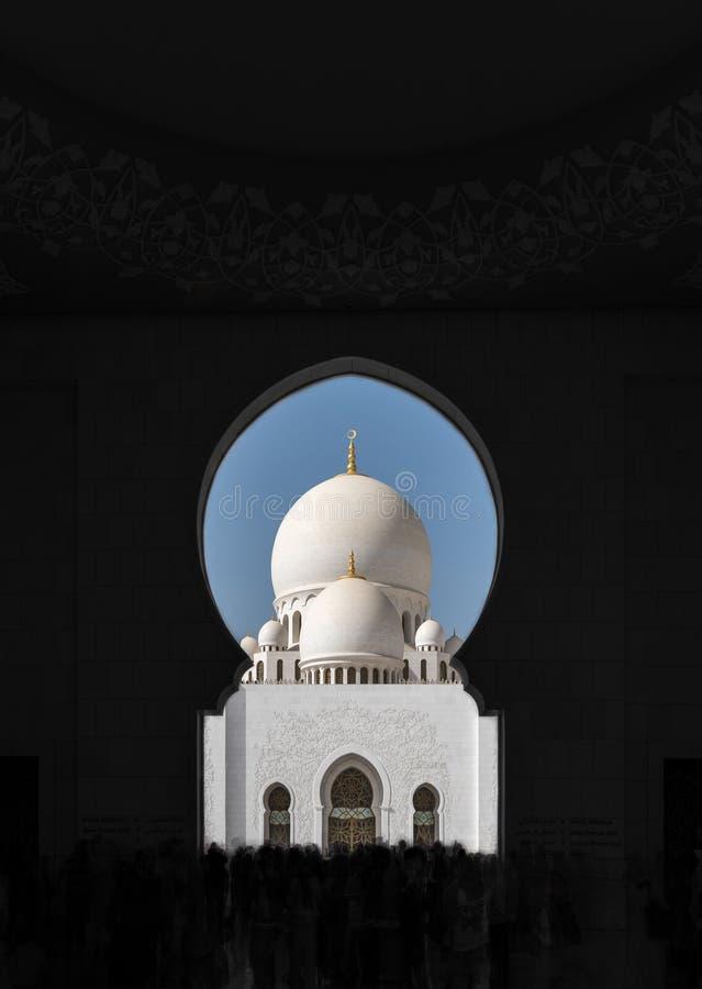Sheikh Zayed Mosque - la tour photos stock