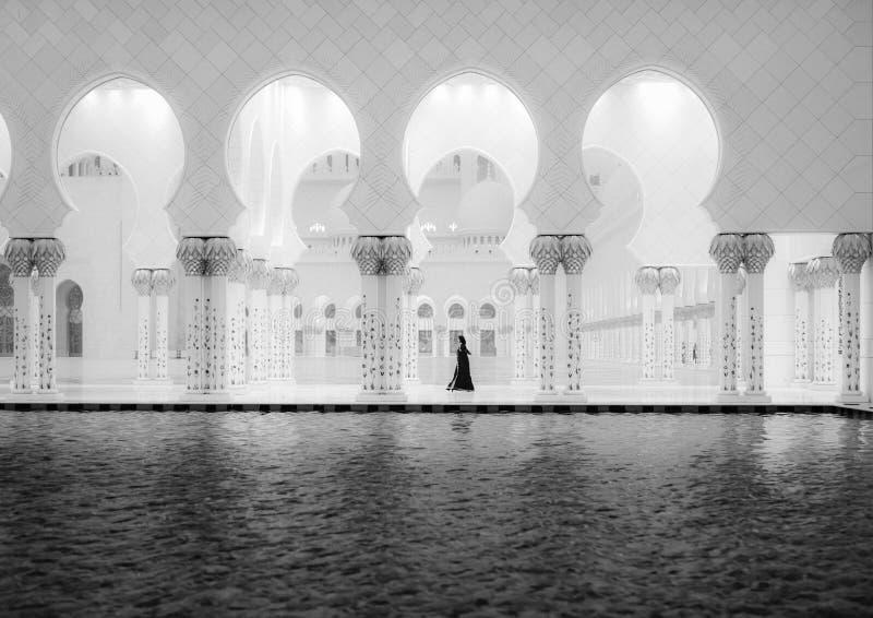 Sheikh Zayed Mosque y mujeres 2 fotografía de archivo