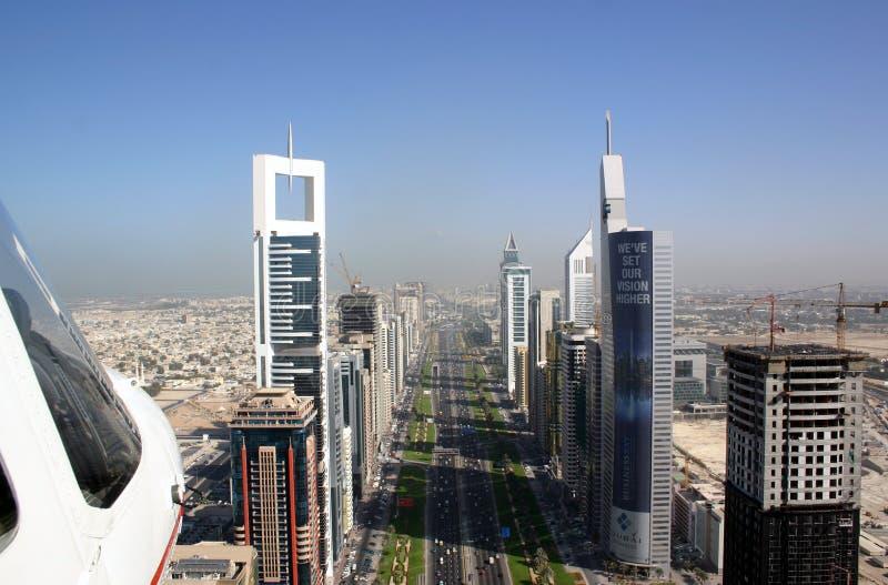 Sheikh Zayed Raod Dubai photographie stock