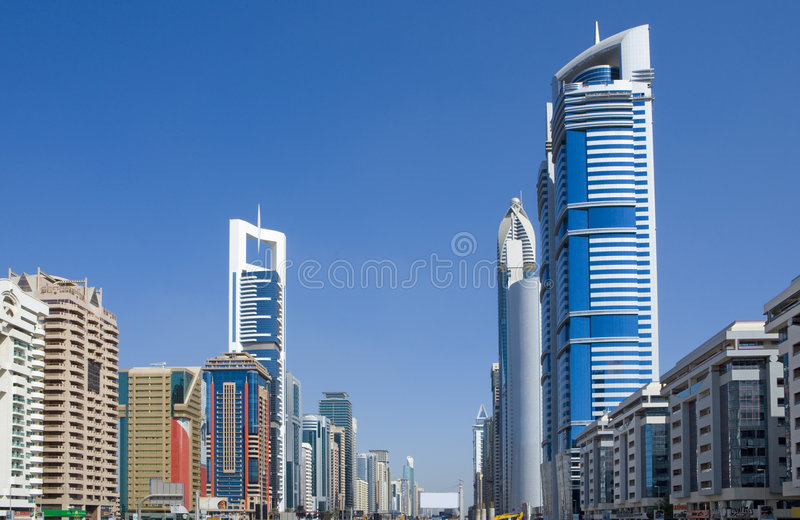 Download Sheikh-Zayed-Road, Dubai stock photo. Image of tower, asia - 7449386