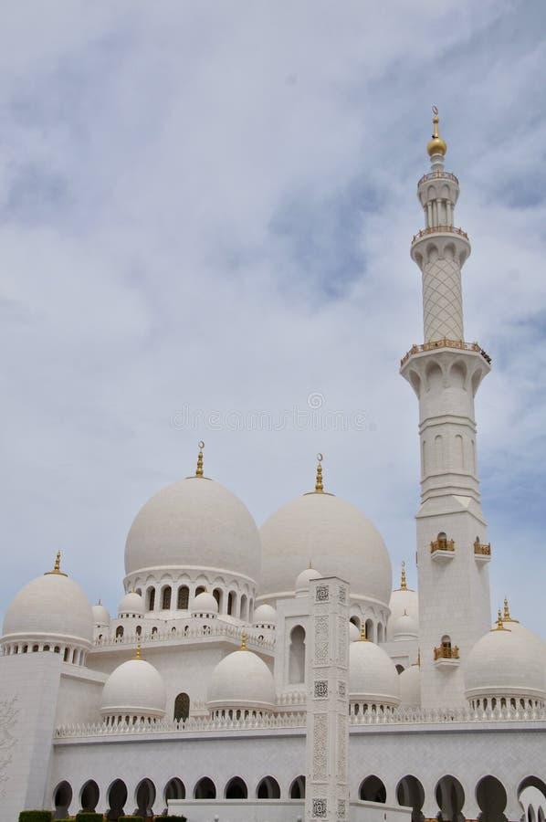 Sheikh Zayed Uroczysty meczet, Abu Dhabi, emiraty obraz stock