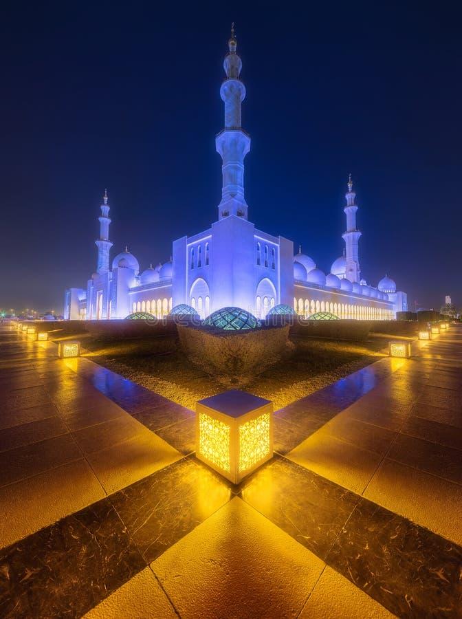 Sheikh Zayed Uroczysty meczet w Abu-Dhabi, UAE fotografia royalty free