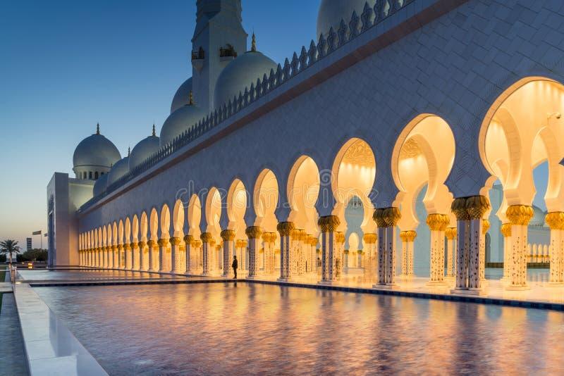 Sheikh Zayed Uroczysty meczet w Adu Dhabi zdjęcie royalty free