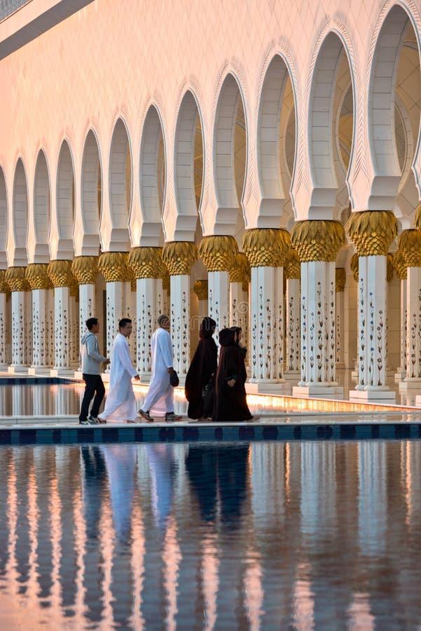Sheikh Zayed White Mosque en Abu Dhabi photo libre de droits