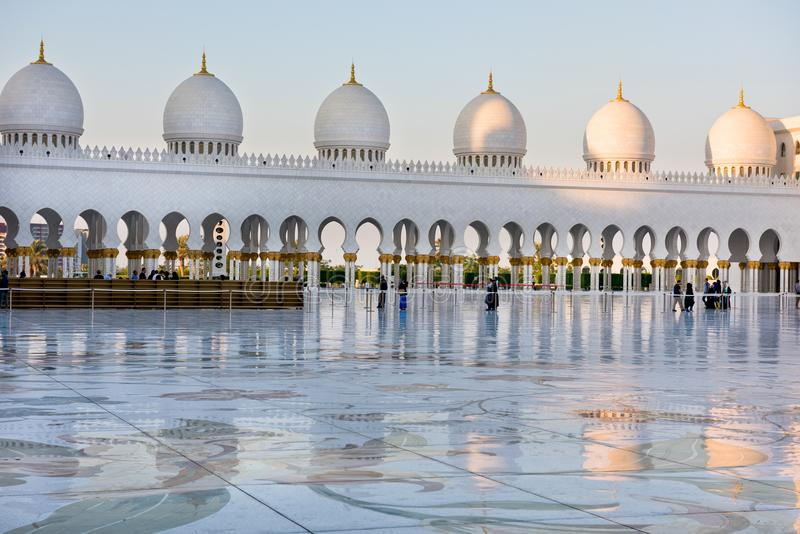 Sheikh Zayed White Mosque en Abu Dhabi, EAU photo libre de droits