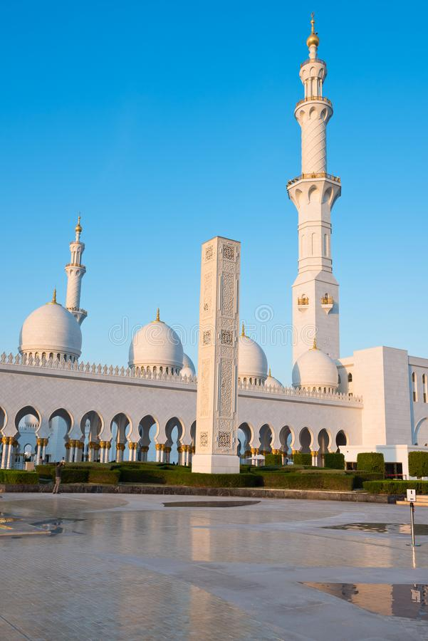 Sheikh Zayed White Mosque en Abu Dhabi, EAU photos stock