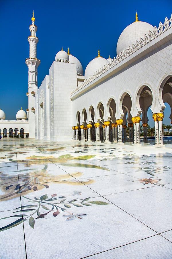Sheikh Zayid Mosque. In Abu Dhabi UAE royalty free stock images