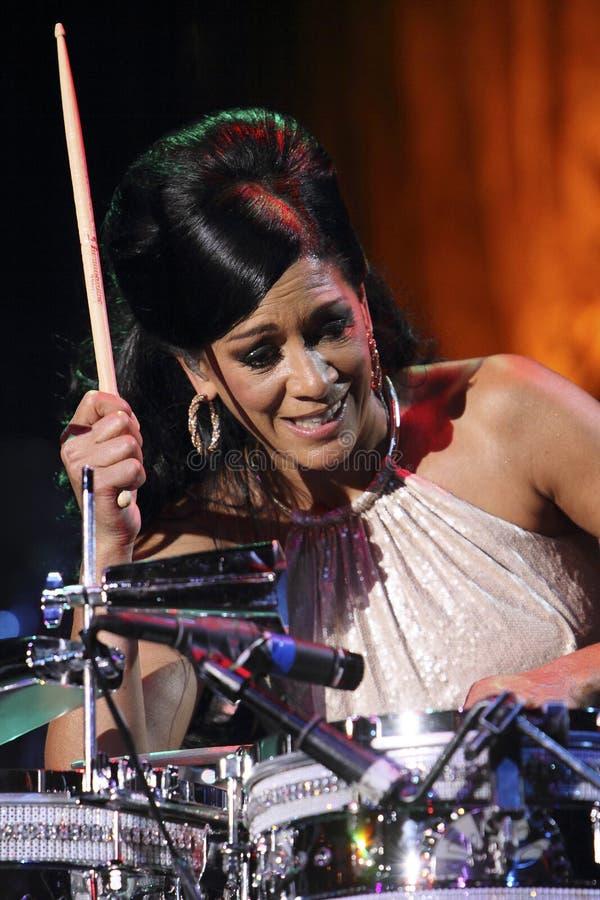 Sheila E en la percusión fotos de archivo libres de regalías