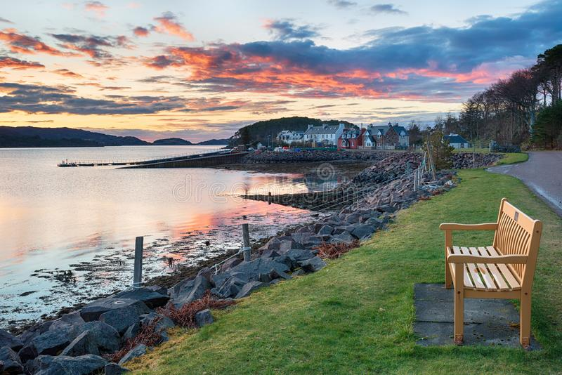 Sheildaig in Schottland stockbilder