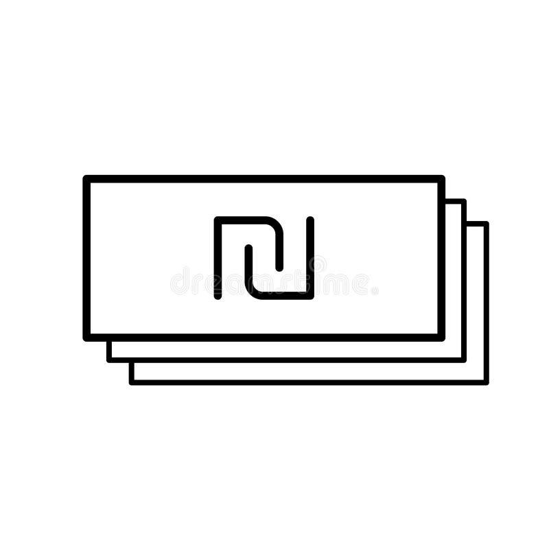 Shekel de monnaie fiduciaire illustration de vecteur