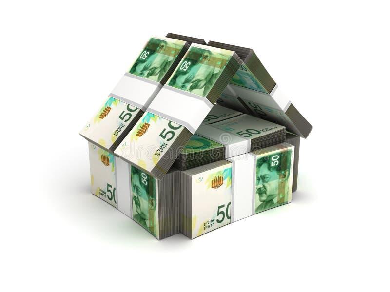 Shekel israélien de concept de Real Estate nouveau illustration stock