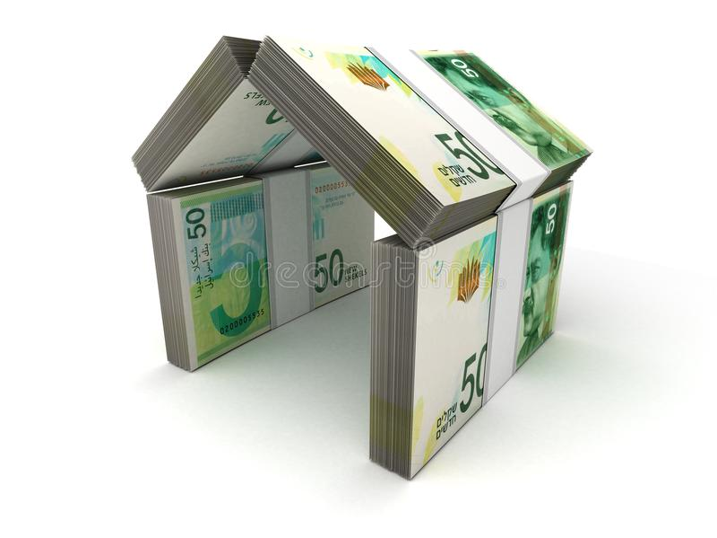Shekel israeliano di concetto di Real Estate nuovo illustrazione vettoriale