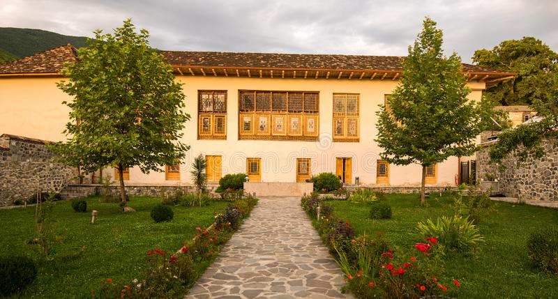 Sheki: The Khan Winter Palace. In the Caucasus Mountains the town of Sheki is an undiscovered jewel for the tourist chasing history and culture. This is the Khan royalty free stock photo