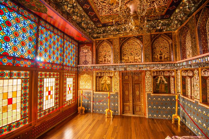Sheki: The Khan Winter Palace, inside. royalty free stock images